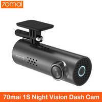 Xiaomi 70mai inglês controle de voz câmera do carro dvr 1080hd visão noturna dashcam wifi câmera 70 mai traço cam 1 s app