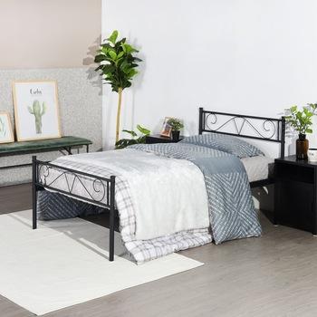Pojedyncze żelazne łóżko w sypialni kreatywna metalowa rama łóżka do małego mieszkania meble do sypialni pojedyncze podwójne łóżko żelazne tanie i dobre opinie Nowoczesne 1000mm CN (pochodzenie) Other SQUARE Single iron bed China