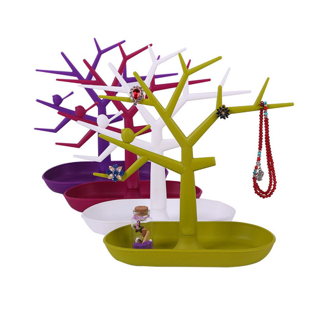 Chic Display Jewelry Organizer Show Rack Necklace Ring Earring Tree Stand                                                 Holder