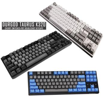 DURGOD TAURUS K320 Mechanical Keyboard [Cherry MX Switches] NKRO 87-Key Gaming Keyboard for Gamer/Typist/Office - QWERTY-Layout