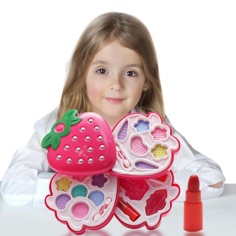 Beauty Kids Make Up Toy Set Pretend Play Princess Makeup Safety Toys Kit Fashionable Parent-child Interactive Safe Toy