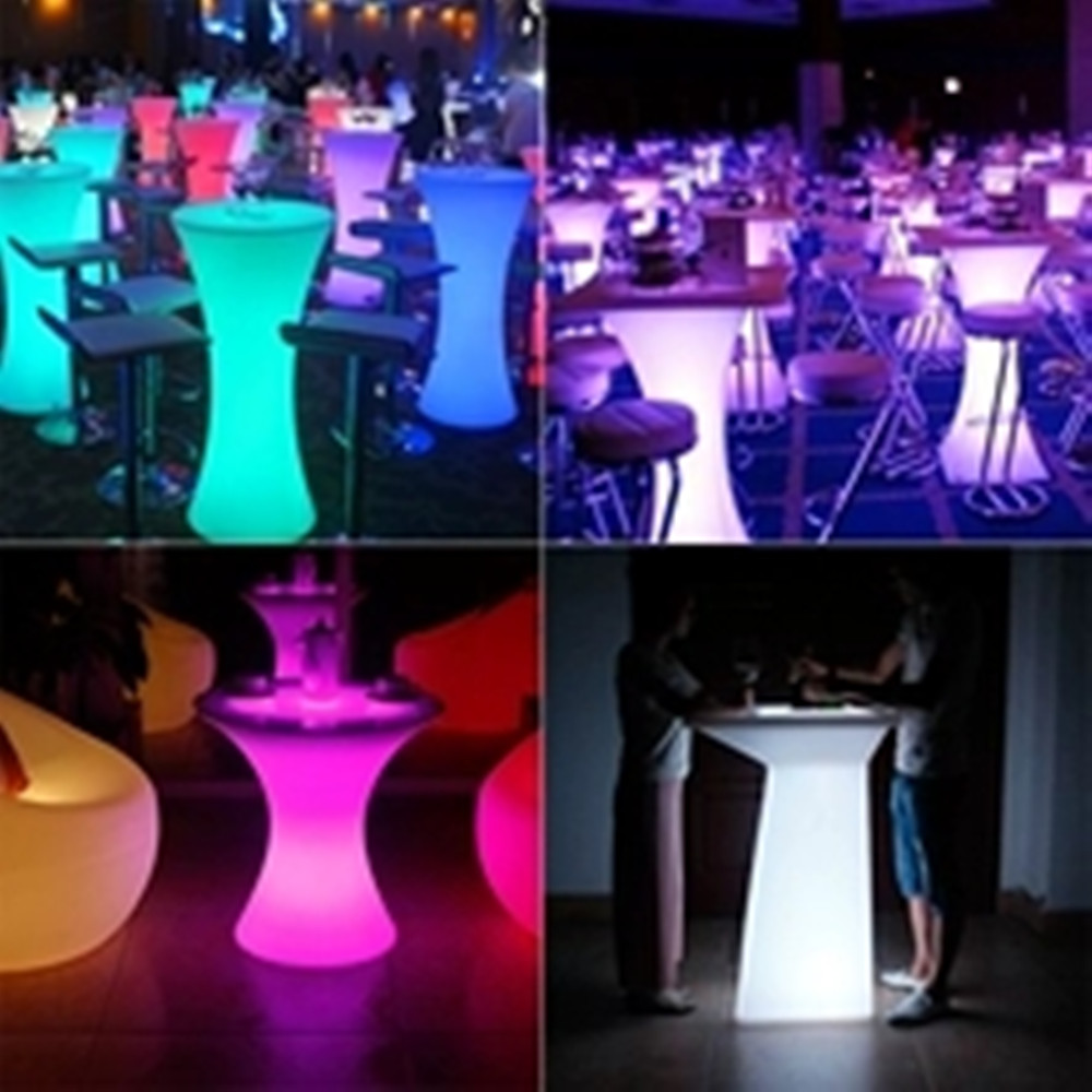 2019 Newest Rechargeable LED Illuminated Cocktail Table Creative Lightingh Furniture Disco Bar Nightclub Supples