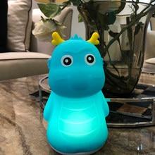 LED Strange Dragon USB Nightlight Cute Cartoon Silicone Seven Color Nightlight Children's Bedroom Decoration Gift Remote Control