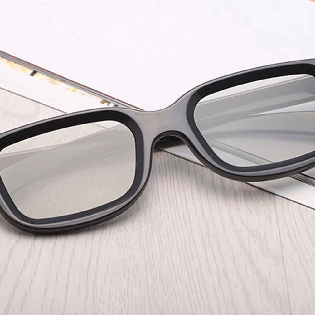 Uniwersalny pasywny okrągłe 3D spolaryzowane film okulary Unisex rama ABS Stereo nie Flash dla 3D telewizor z dostępem do kanałów kina