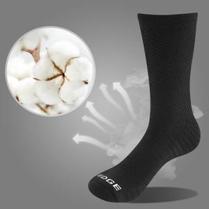 Image 2 - Yuedge 5 Pairs Mannen Katoen Business Deodorant Warme Sokken Ademend Mannelijke Effen Kleur Crew Sokken Eu Maat 38 47