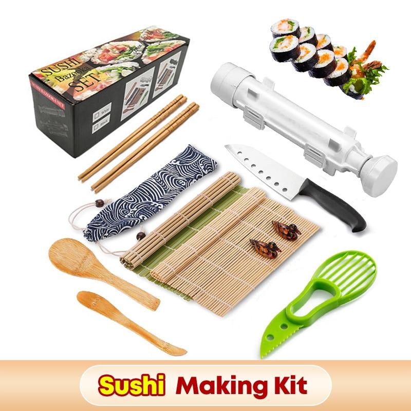 Форма для суши «сделай сам», инструмент для скатывания овощей, мяса, роллер для суши, форма для риса, роллер для суши, набор милых мультяшных ...