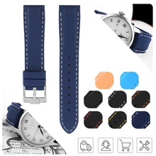 Watch Band 18mm 20mm 22mm 24mm Silicone Rubber Sport for Black Bay Khaki Navy