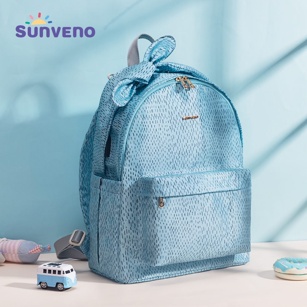 Sunveno Baby Daper Bag Mommy Stroller Bags USB Large Capacity Waterproof Nappy Bag Mummy Maternity Travel Backpack Baby Care