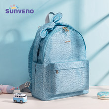Sunveno Baby Daper Bag Mommy Stroller Bags USB Large Capacity Waterproof Nappy Bag Mummy Maternity Travel Backpack Baby care(China)
