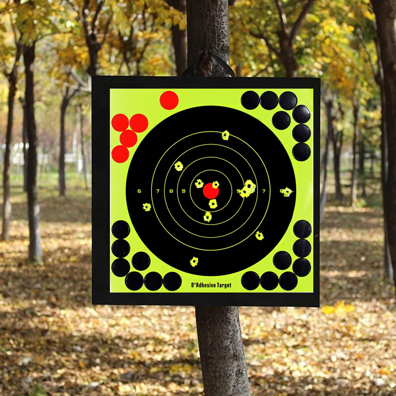 10pcs Reactivity Shoot Target 8-Inch Pistol Binders Reactivity Shoot Target Lightweight Portable Aim For Rifle Pistol Binders