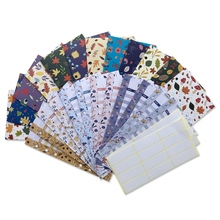 24 Pieces Budget Envelopes and Expense Budget Sheets A6 Binder Pockets 6 Holes Stylish Reusable for Cash Envelope System