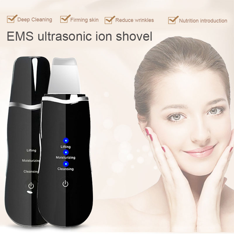 Ultrasonic Deep Face Cleaning Machine Skin Scrubber Remove Dirt Blackhead Reduce Wrinkles Spots Facial Whitening Peeling Devices