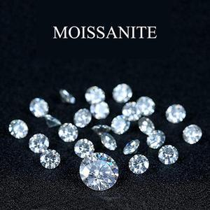 Szjinao Настоящее 100% Свободное Moissanite 1.0ct карат 6,5 мм VVS1 D цветное круглое бриллиантовое кольцо DIY браслет ювелирные изделия с сертификатом