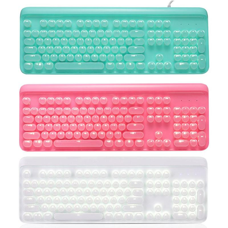 104 Keys Backlight Wired Keyboard Blue Switch Gaming Mechanical For Computer PC  6 Degree Lifting Angle Relax Wrist Finger