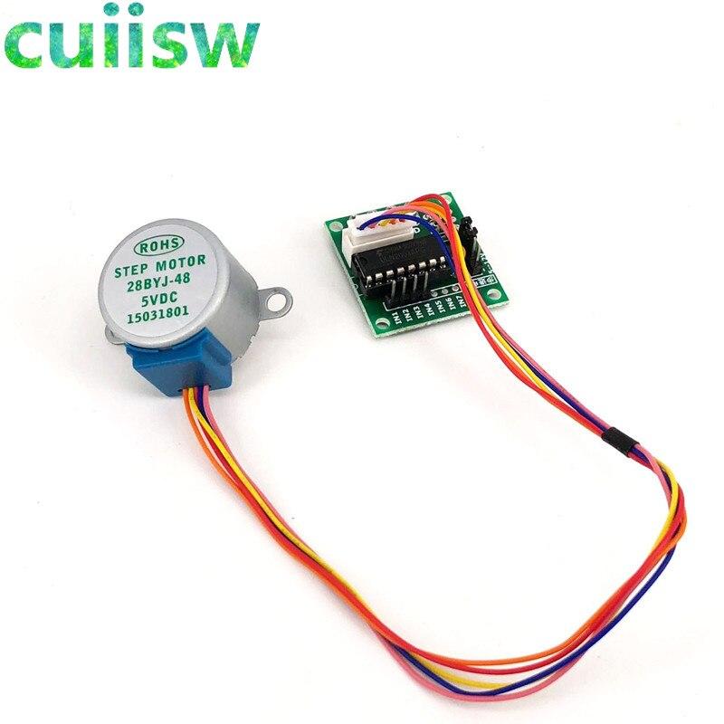 1 комплект умной электроники 28BYJ-48 5 В, 4-фазный шаговый двигатель постоянного тока + плата драйвера ULN2003 для arduino, комплект для творчества