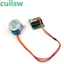 1 conjunto de eletrônicos inteligentes 28byj-48 5v, motor de passo engrenagem 4 fase dc + placa driver uln2003 para arduino diy kit de