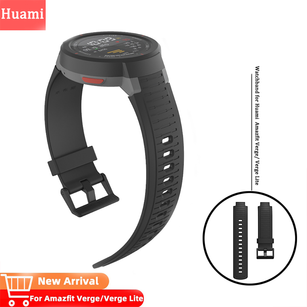 Watchband For Huami Amazfit Verge Wristband Repalcement Bracelet Watch Band For Verge Lite Watch Soft Silicone Strap Accessories