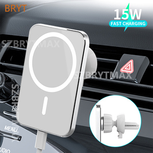 15W Magsafe Car Wireless Charger Airvent Mount Magnet Adsorbable Phone Car Holder For iphone 12 12 Pro Max 12 Mini Fast Charging
