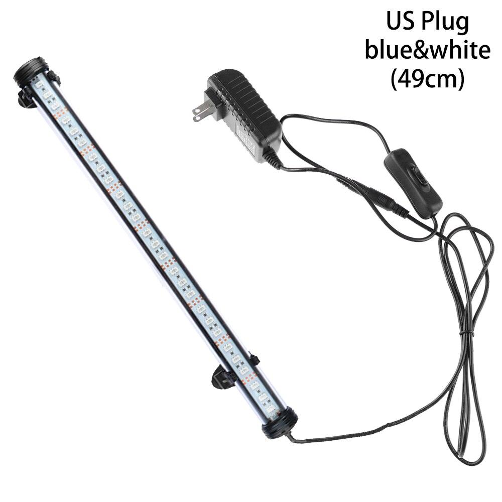 Горячие 19/29/39/49 см светодиодный аквариум светильник сине-белые rgb-пульт дистанционного Управление подводный Водонепроницаемый погружной лампа бар воздушный пузырь светильник - Цвет: US Plug4
