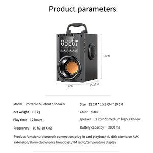 Image 3 - Sans fil Bluetooth haut parleur 2200mAh grande puissance Subwoofer Portable lourd basse stéréo haut parleurs lecteur de musique LCD affichage FM Radio TF