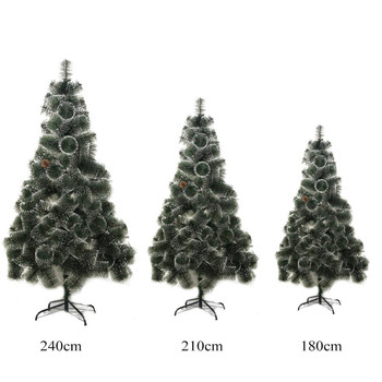 New Year's artificial Christmas tree fir pine fluffy green with cones and snow on the tips 60/90/20/150/180/210/240/300 cm