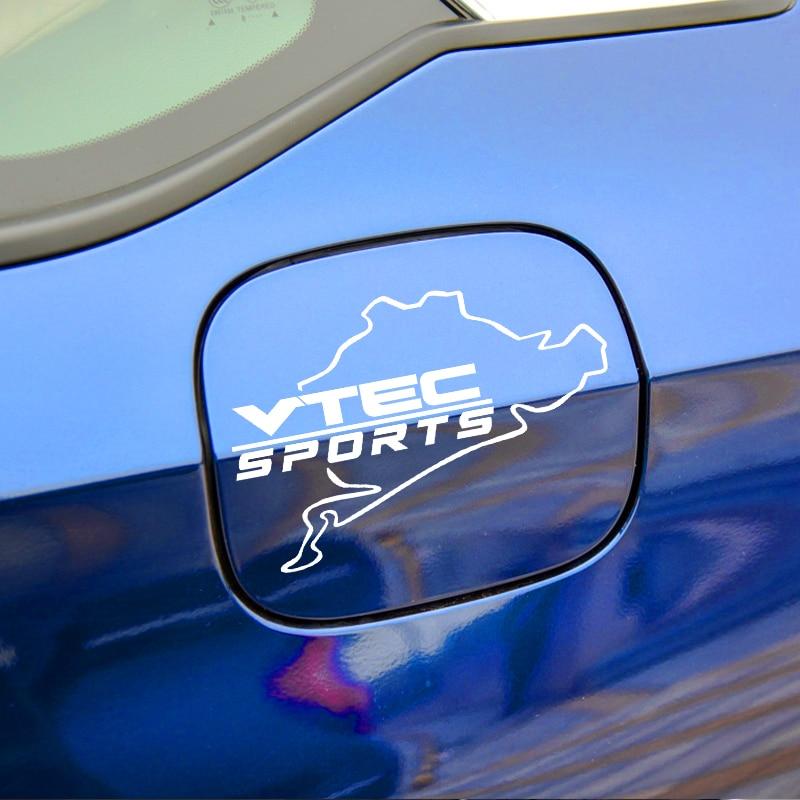 For Honda Civic Accord Odyssey Spirior CRV VTEC SPORTS Emblem Car Fuel Tank Cap Laptop Tablet Vinyls Sticker Car Accessories