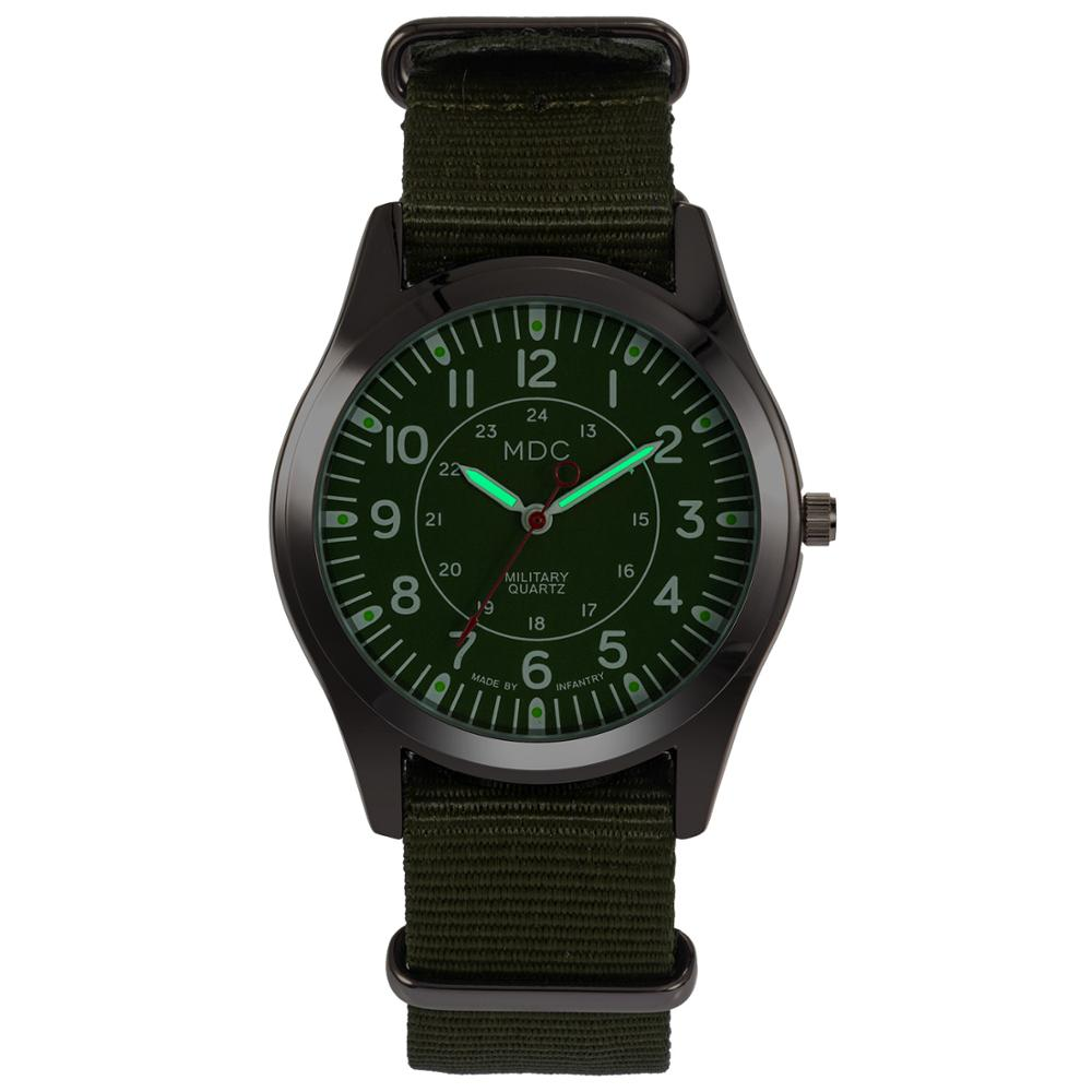 MDC Men Watch Military Luminous Hands Sport Watches For Men Tactical Nylon Mens Watches Top Brand Luxury Relogio Masculino