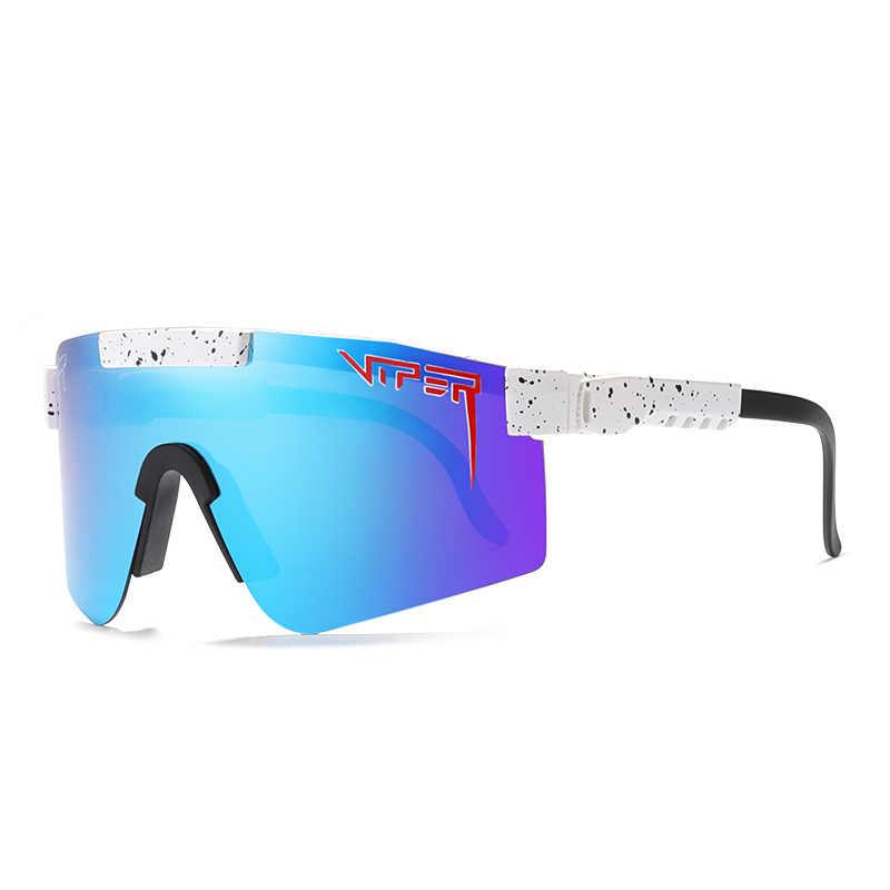 Dupla ampla nova chegou festa óculos polarizados para esporte óculos de proteção colorido ao ar livre pit viper