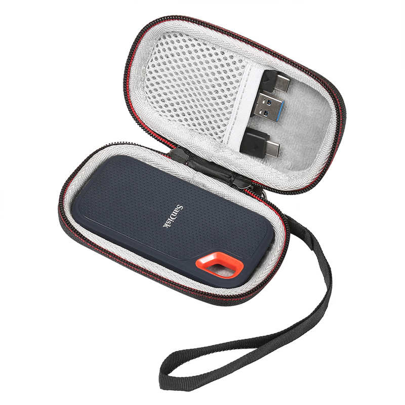 2019 yeni sert çanta SanDisk 250GB / 500GB / 1TB / 2TB aşırı taşınabilir SSD SDSSDE60, taşıma saklama çantası (sadece kasa)