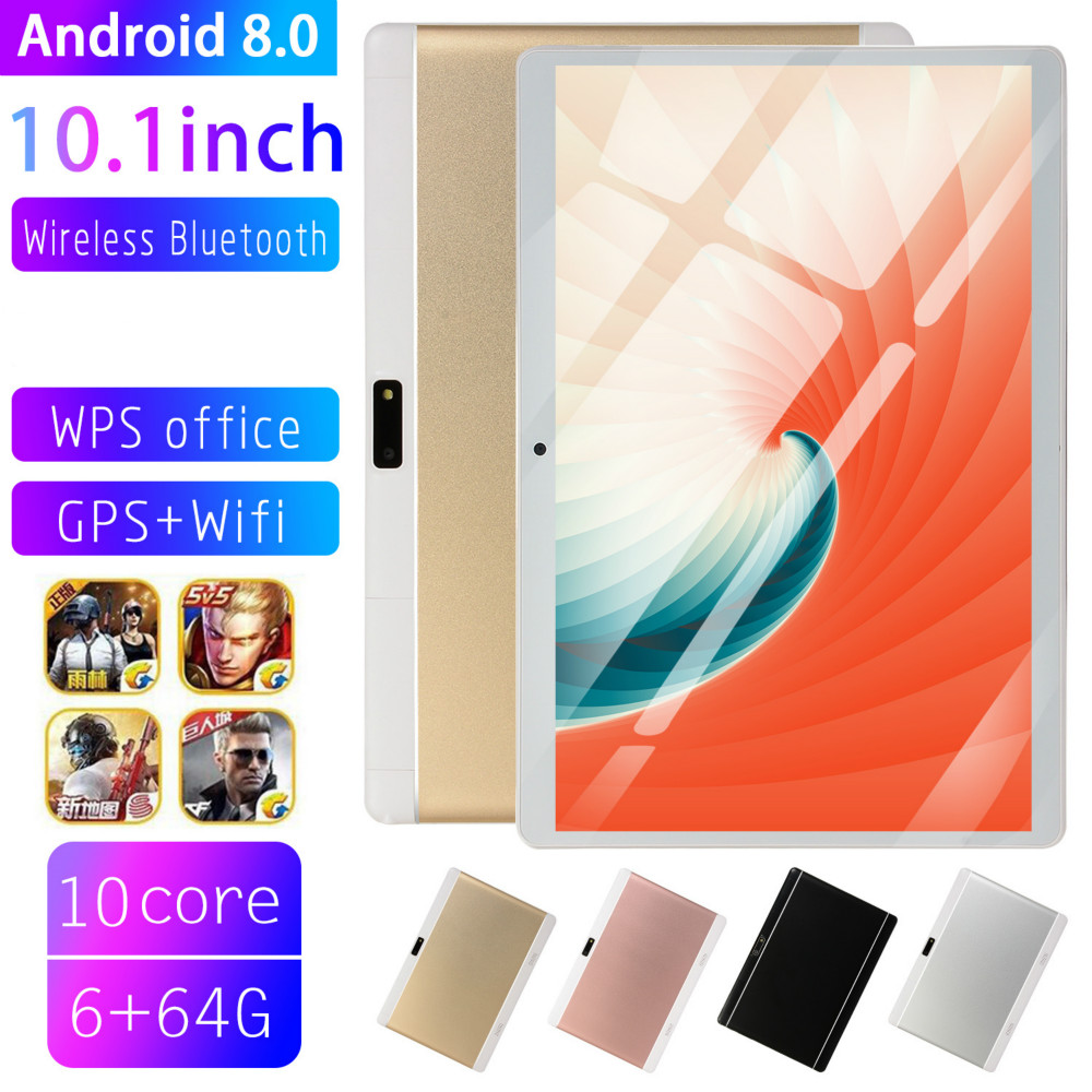 2020 Free Shipping 10 Inch 4G Phone Tablet PC Android 8.0 10 Core RAM 6GB ROM 32GB 64GB 1280x800 IPS Tablets Pc MT6753