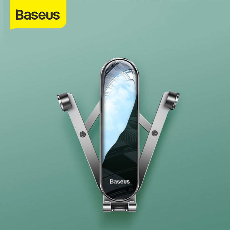 Baseus Universal Car Phone Holder For Smart Mobile Phone Stand Gravity Phone Holder Sensing Auto Grip Stand Steady Fixing Bracke