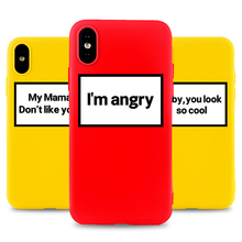 I'm Angry Phone Case for IPhone 6s 7 8 11 Plus Pro X XS MAX XR SE Funny Cases Soft Silicone Fitted TPU Back Accessories Covers i m angry phone case for iphone 6s 7 8 11 plus pro x xs max xr se funny cases soft silicone fitted tpu back accessories covers