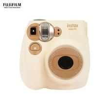 Fujifilm Instax Mini7c мгновенная камера пленочная камера автоматическая фокусировка с ремешком на запястье для дня рождения Рождество год фестиваль подарок