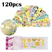 50-120 шт Медицинский пластырь, водонепроницаемые клейкие повязки, милые пылезащитные дышащие повязки, медицинский клей для детей