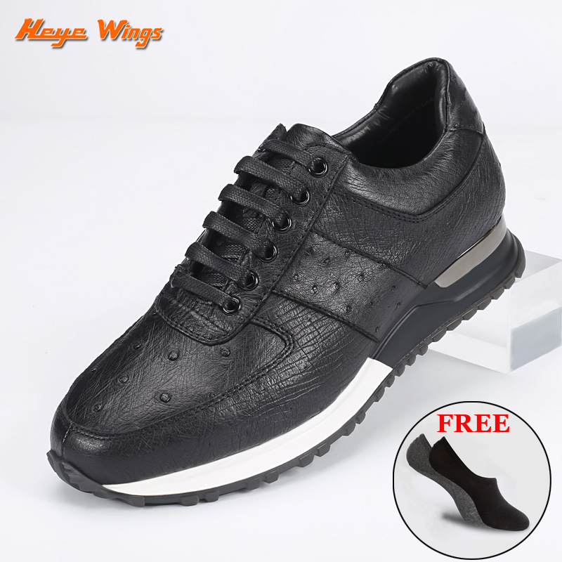 Light luxury ostrich leather Sneakers Men's fashion casual shoes leisure style high quality finished sport shoes
