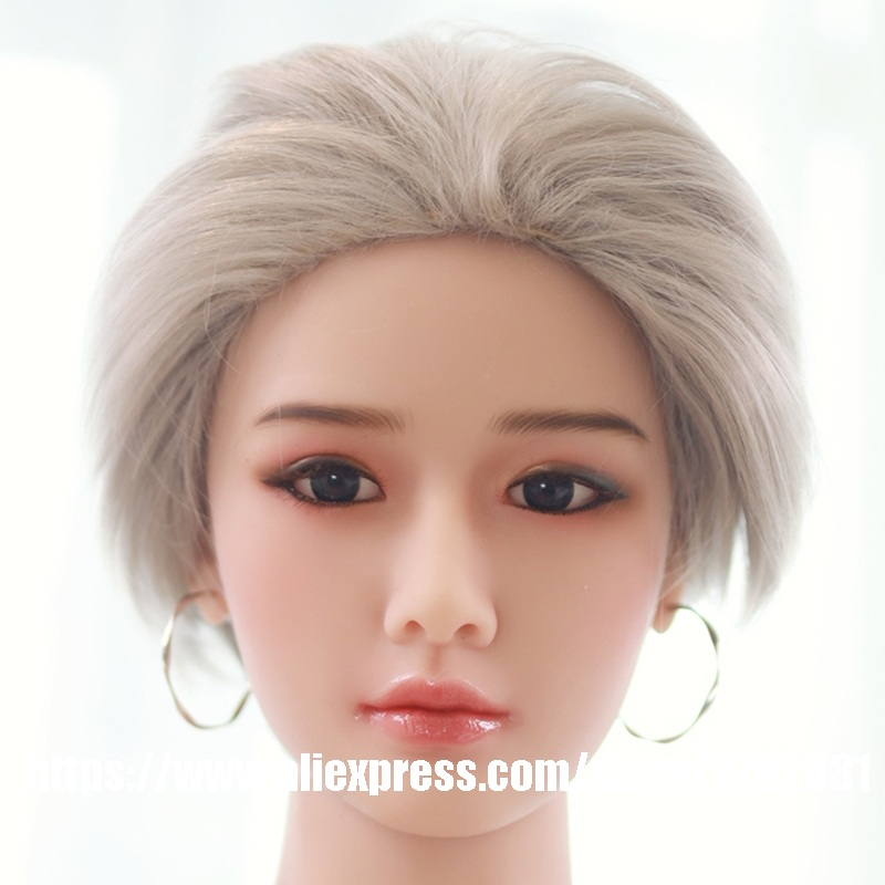 Japanese Silicone <font><b>Sex</b></font> <font><b>Doll</b></font> Head for 140cm to 175cm Body TPE Love <font><b>Doll</b></font> Heads Sexy Toys Male Masturbator Factory Price image