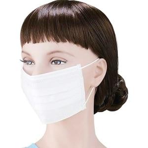 Image 3 - 10/20/50/100 stuks mondmasker Disposable Zwart / wit / blauw / roze / pgrey Cotton Mond gezichtsmasker niet geweven Masker Earloop Activated