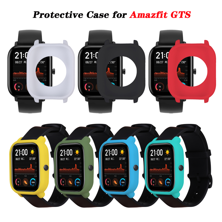 Protective Case For Xiaomi Amazfit GTS Watch Soft Silicone Shell Frame Bumper Protector For Amazfit GTS Cover Accessories