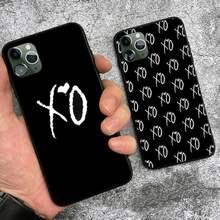 O weeknd xo telefone fundas coque para o iphone 11 12 pro max caso xr xs 7 8 mais capa acessórios preto macio escudo