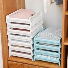 Стеллаж для хранения Съемный шкаф Органайзер корзина для хранения одежды Многослойная Штабелируемая полка ящик для хранения одежды
