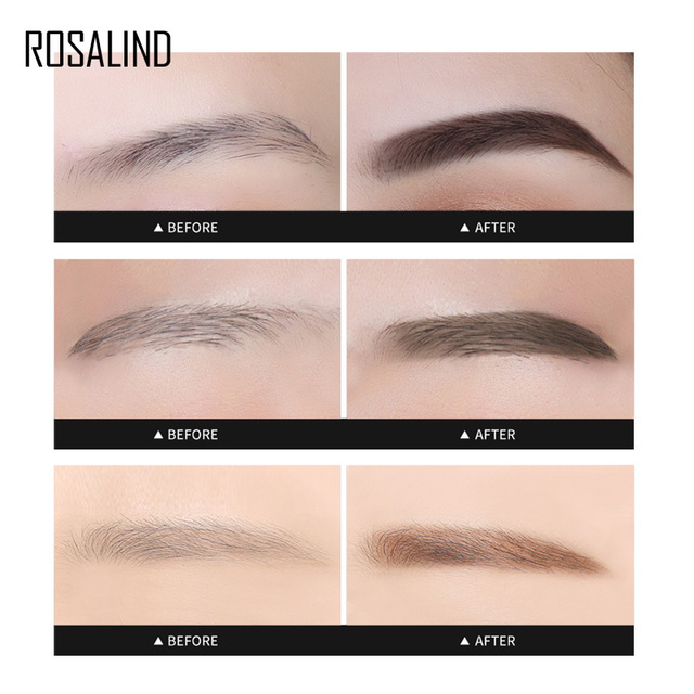 ROSALIND Eyebrow Shadows Pencil For Eyebrows Dye Marker Double End Eyebrow Pencil Tattoo Fine Sketch Brow Tint Cosmetic Stencil 2