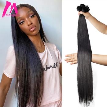 Maxglam prosto 28 30 32 34 40 Cal brazylijski włosy wiązki naturalne włosy rozszerzenie splot 100 ludzkich włosów zamknięcie dziewiczy włosy Remy włosy 1 3 4 zestawy tanie i dobre opinie Proste = 5 BR (pochodzenie) Ciemniejszy kolor tylko Kwas przetwarzania Tkactwo Ludzki włos Maszyna wątek dwukrotnie