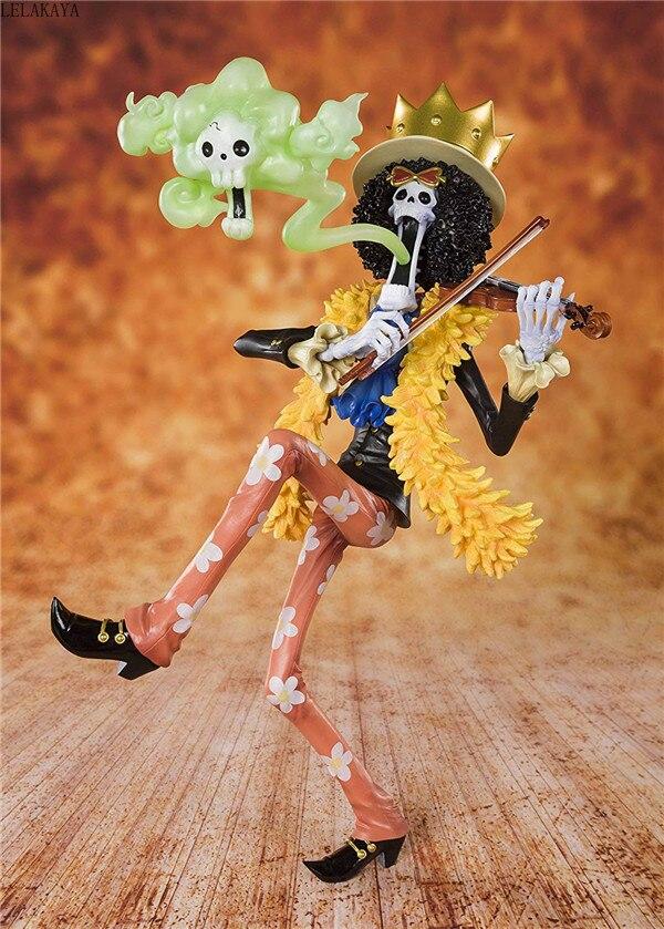 Novo quente 23cm japão anime uma peça 20th aniversário o chapéu de palha piratas brook burukku pvc figura de ação modelo brinquedos