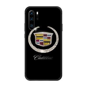 Американский люксовый автомобильный бренд Cadillac чехол для телефона корпус для Huawei P8 P9 P10 P20 P30 P40 Lite Pro Plus smart Z 2019 черный