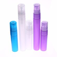 Mini spray de perfume vazio de 5/10 ml, garrafa plástica recarregável de perfume portátil, pequena atomizador, garrafas coloridas de pulverizador