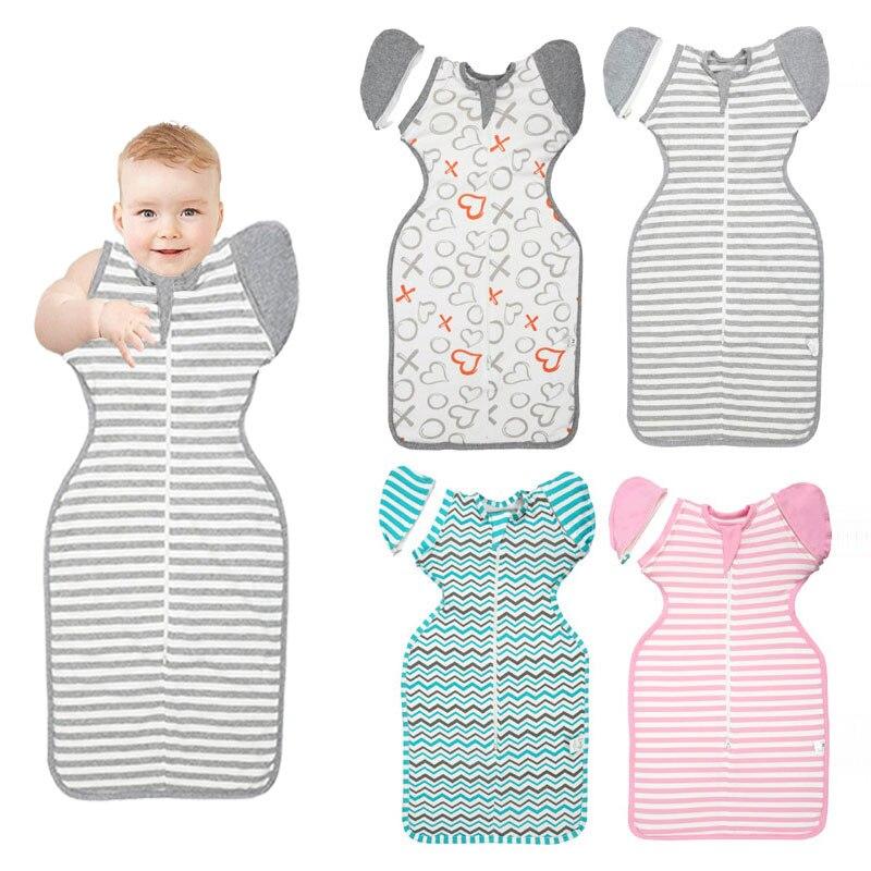 HereNice Sleeve Removable New Born Baby Cocoon Pod Pebble Modeling Sleeping Bag Toddler Sleepsack Infant Kids Swaddle Sleep Sack