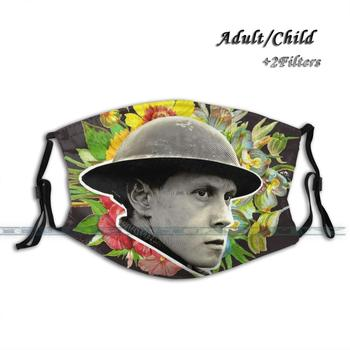 1917 - Lance Corporal Schofield Print Reusable Mouth Mask Washable Filter Anti Dust Face Mask 1917 Movie Floral Flower George image