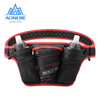 AONIJIE Running Marathon Waist Bag Portable Cell Phone Holder Ultralight Hiking Pouch Fanny Pack With 2 Pcs 500ml Water Bottle