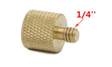 10pcs/lot 3/8 inch Female to 1/4 inch Male Tripod Thread Reducer Adapter Brass Copper For Camera tripod Diameter of screw 1/4