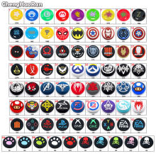 ChengHaoRan 1Pc Cat/Skull Silicone Joystick Cover Thumb Sticks Grip Caps For PS5 PS4 Slim PS3 Xbox 360/One X S NS Pro Controller